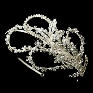 Extravagant Crystal Leaf & Flower Headband