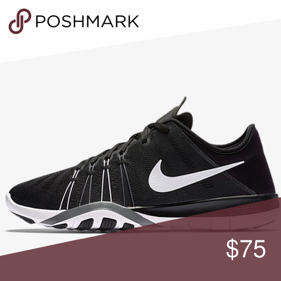 869660425284 NIKE Free TR 6 Women s Training Shoe Black sneaker with white Nike symbol  (exactly like