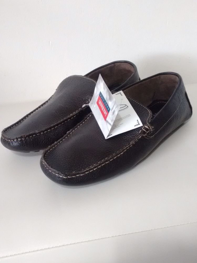 d4d4eb0a3f Luca Mancini Men s Shoes UK Size 9 EU 43 Easy Life Slip On Leather Dark  Brown