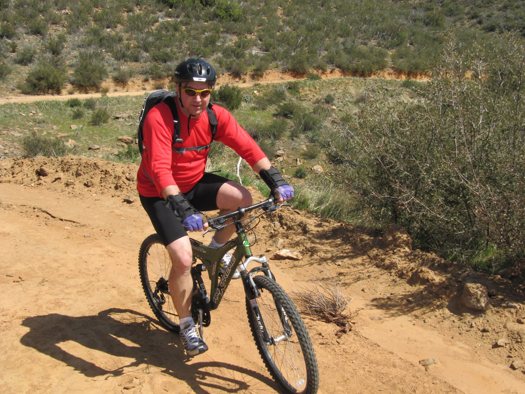 Chris Roberts Mountain Biking at Cleveland National Forest jeep track - Photo by Patty Mooney of San Diego video production company Crystal Pyramid Productions - http://sandiegovideoproduction.com