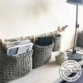 Photo of DIY Körbe häkeln aus Textilgarn – häkeln und stricken – #aus #DIY # häkeln …, #aus #DIY …