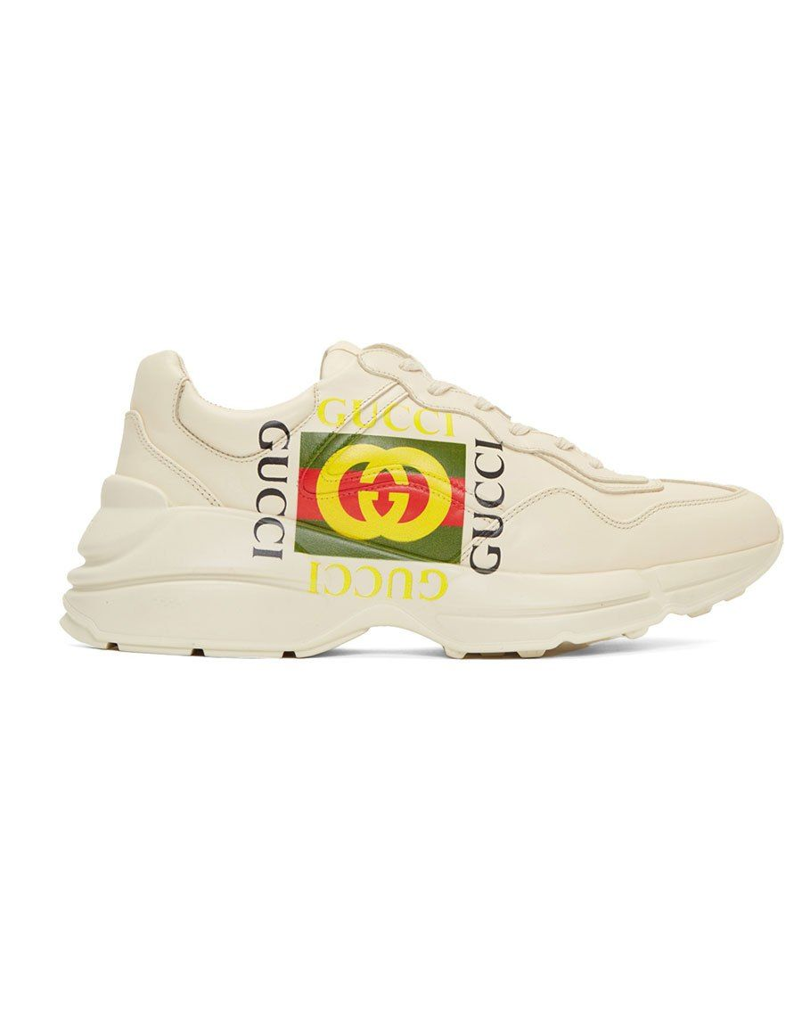 a3fbe8d8cc7 GUCCI Off-White  Gucci Cube  Rhyton Sneakers in 2019