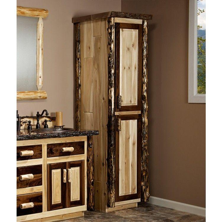 Black Walnut Amp Rustic Cedar Linen Closet In 2020 Rustic