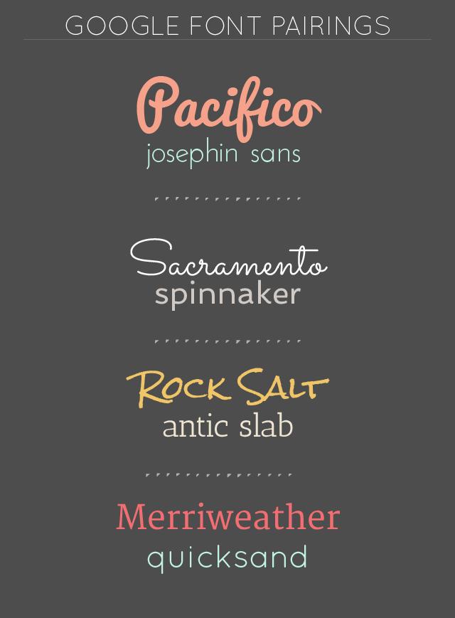 Free Google Fonts Color Combos Google Font Pairings Google Fonts Font Pairing