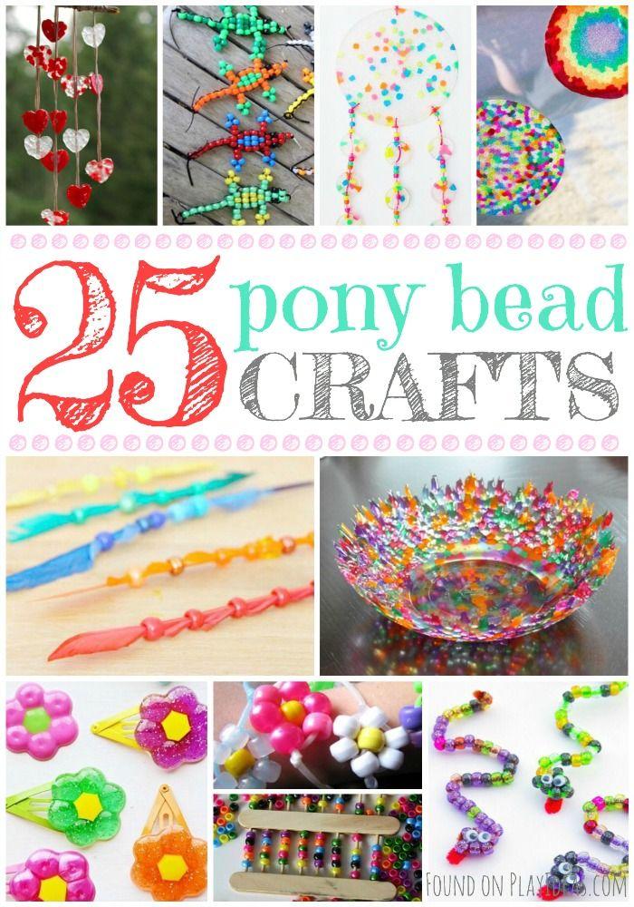 25 Brilliant Pony Bead Crafts For Kids Pony Bead Crafts Beads Craft Kids Crafts