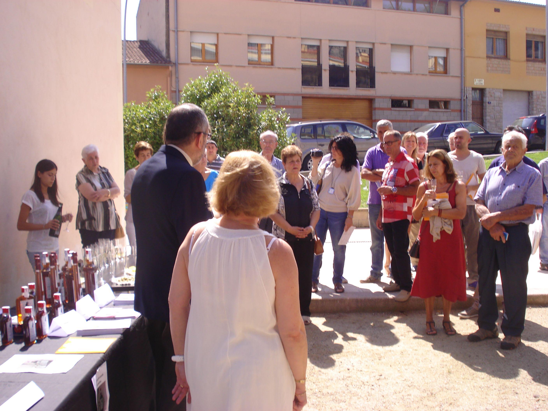 01/09/2013 - Moment de la presentació de la Ratafia embruixada de Centelles 2013