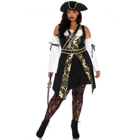 b9d40001fe3 Disfraz Leg Avenue talla XXL para carnaval de pirata bucanera de 4 piezas
