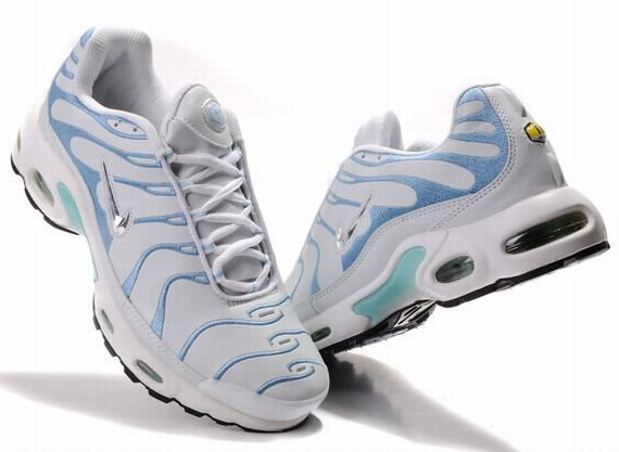 the latest 8997b 18b97 On-line store for Nike Air Max TN Womens Shoes white skyblue Free Shipping