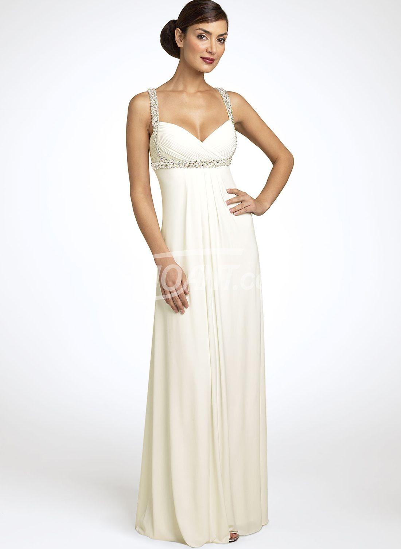 Sequined wedding dress  Buy Elegant Ivory Aline Straps Neckline Sequins Wedding Dress under