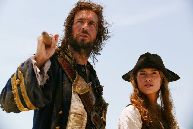 Jack Davenport and Keira Knightley in Pirates of the Caribbean: Dead Man's Chest