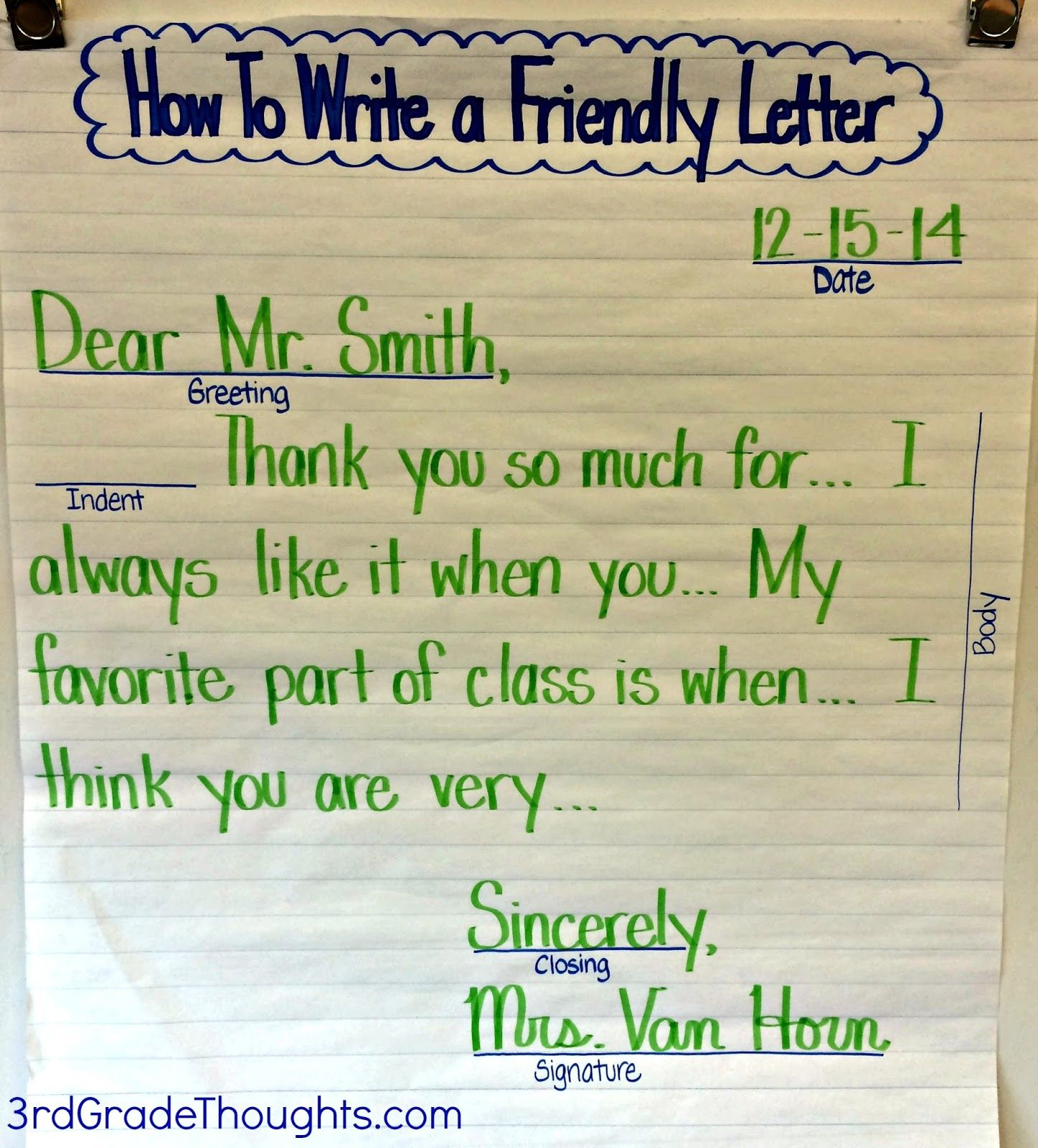 write a friendly letter prompt