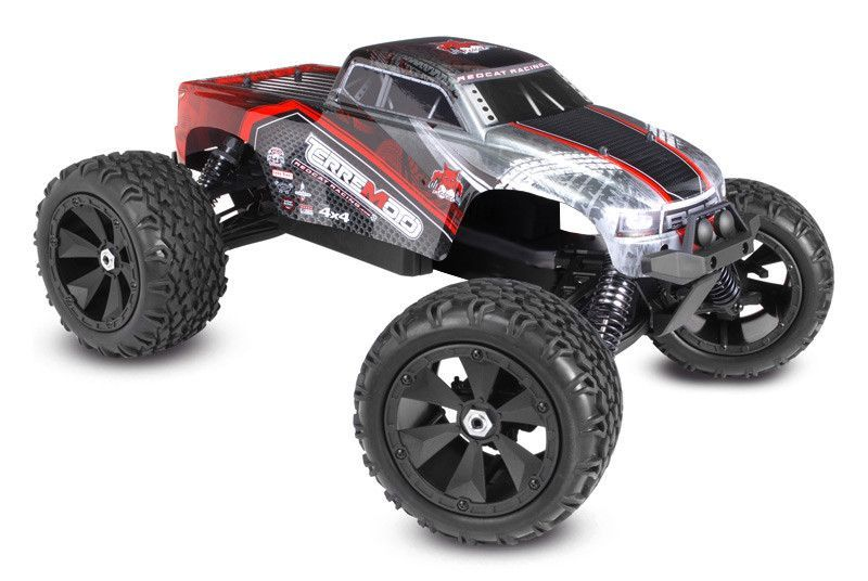 Terremoto V2 Red Rtr Rc Car 1 8 Scale Brushless Electric Monster Truck By Redcat Monster Trucks Redcat Racing Rc Monster Truck