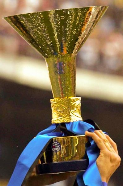 The Calco Serie A Italian Football League Trophy Trofeos