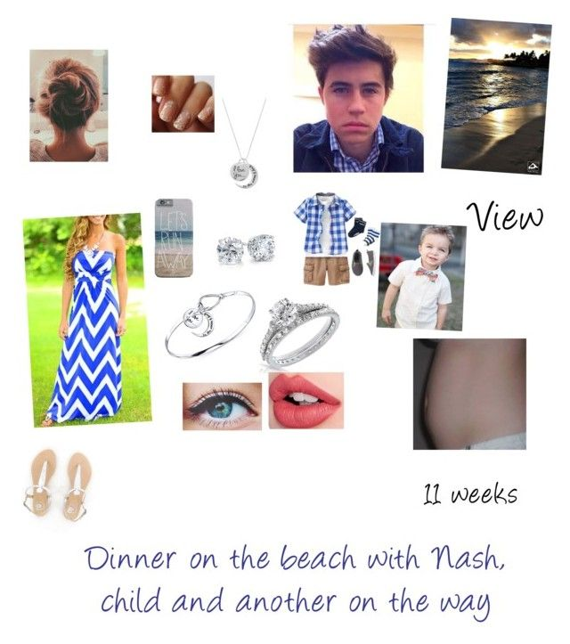 """Dinner on the beach with Nash, child and another on the way"" by theflirtmaster ❤ liked on Polyvore featuring beauty, Blue Nile, Bling Jewelry and Charlotte Tilbury"