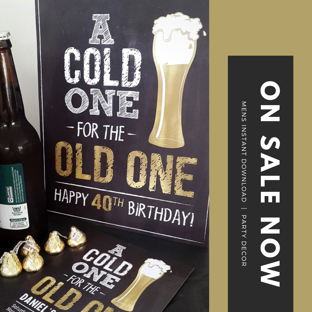 40th Birthday Party Decor Cheers To 40 Years Birthday Etsy 40th Birthday Party Decorations 40th Birthday Parties 40th Birthday Funny
