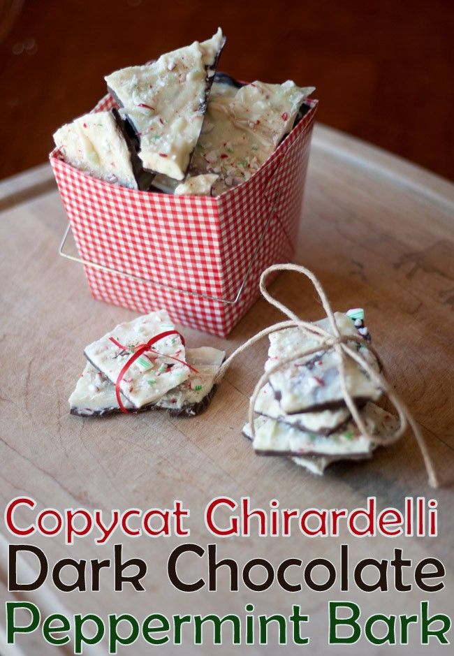 Copycat Ghirardelli Dark Chocolate And Peppermint Almond Bark Best