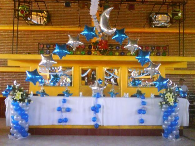 Xv anos decoraciones decoraciones con globos economicas for Decoracion de 15 anos con globos