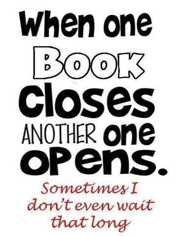 When one book closes, another one opens…
