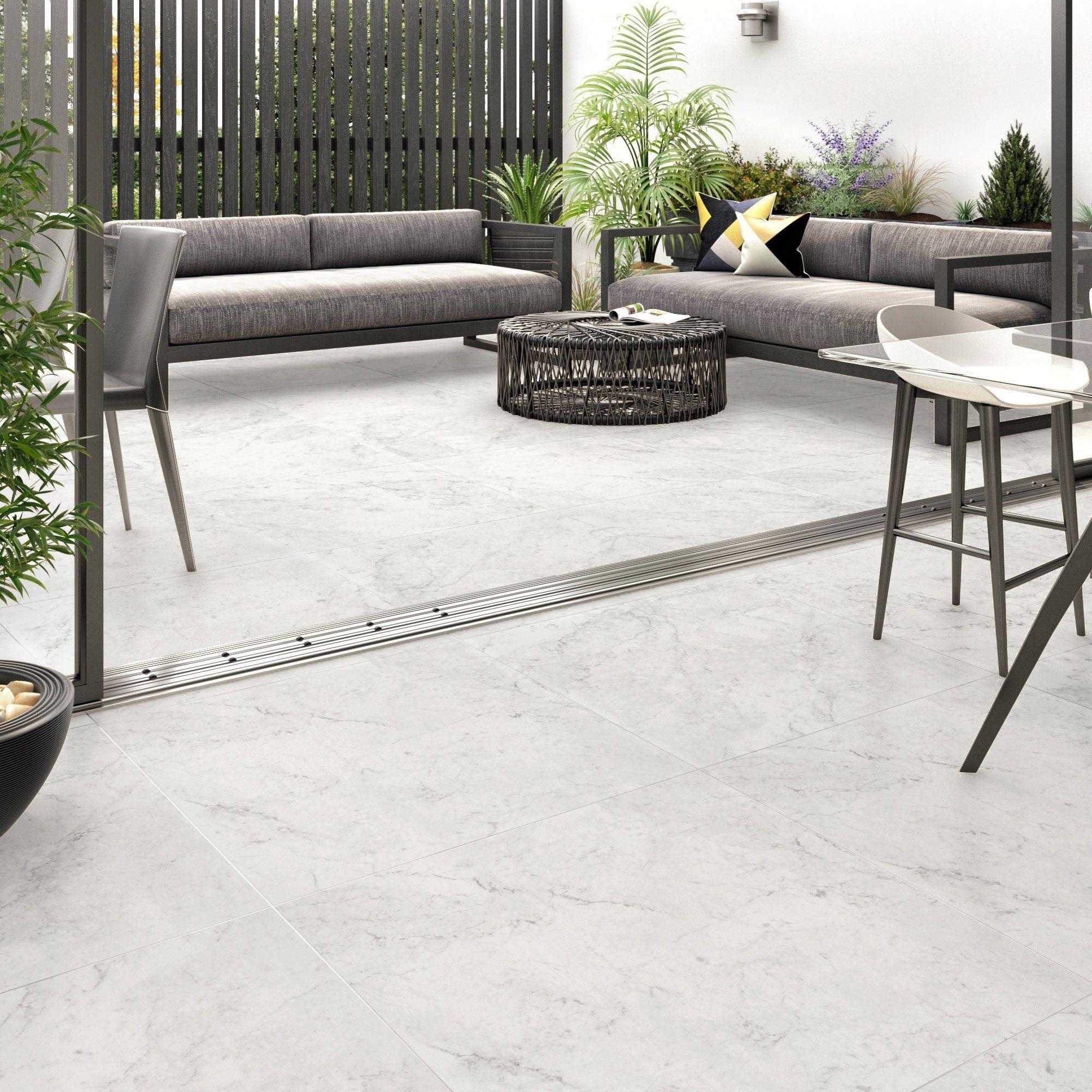 Carrelage Sol Et Mur Intenso Effet Marbre Blanc Cos L 80 X L 80 Cm Cerim Inspire En 2020 Carrelage Sol Decoration Exterieur Marbre Blanc