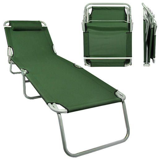 Ce Compass Patio Lounge Chair Army Green Portable