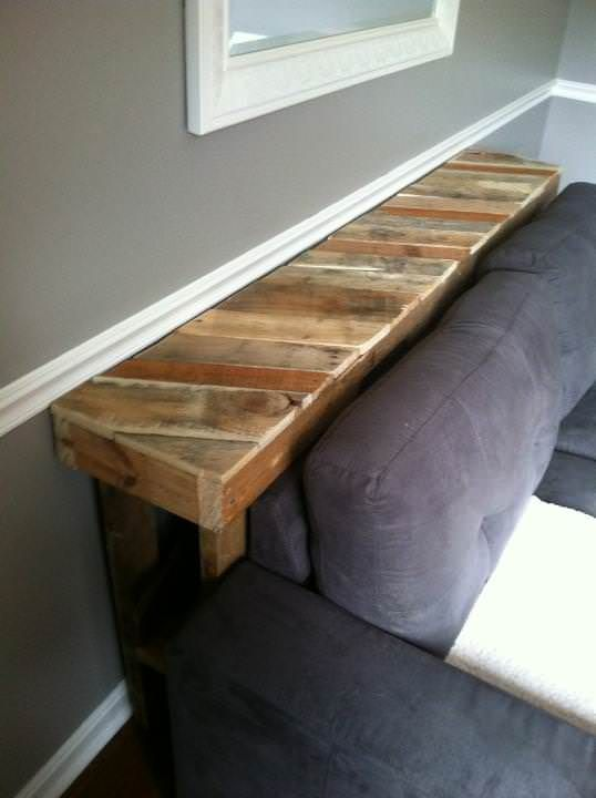 Make Your Custom Diy Narrow Pallet Couch Table To Fit Home S Dimensions And Decor You Ll Save Money Trees By Making It Yourself With Reclaimed