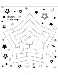 » Star Maze Nuttin' But Preschool