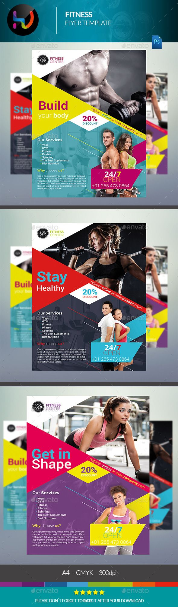 Pin By Best Graphic Design On Flyer Templates Pinterest Fitness