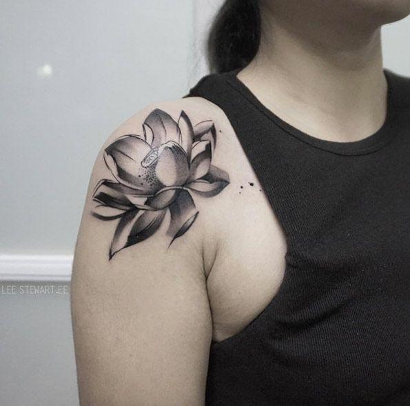 28 Blackwork Brush Stroke Tattoos By Lee Stewart