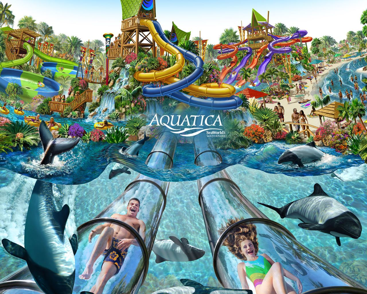 Large water park Nautilus. Lazarevskoye 18