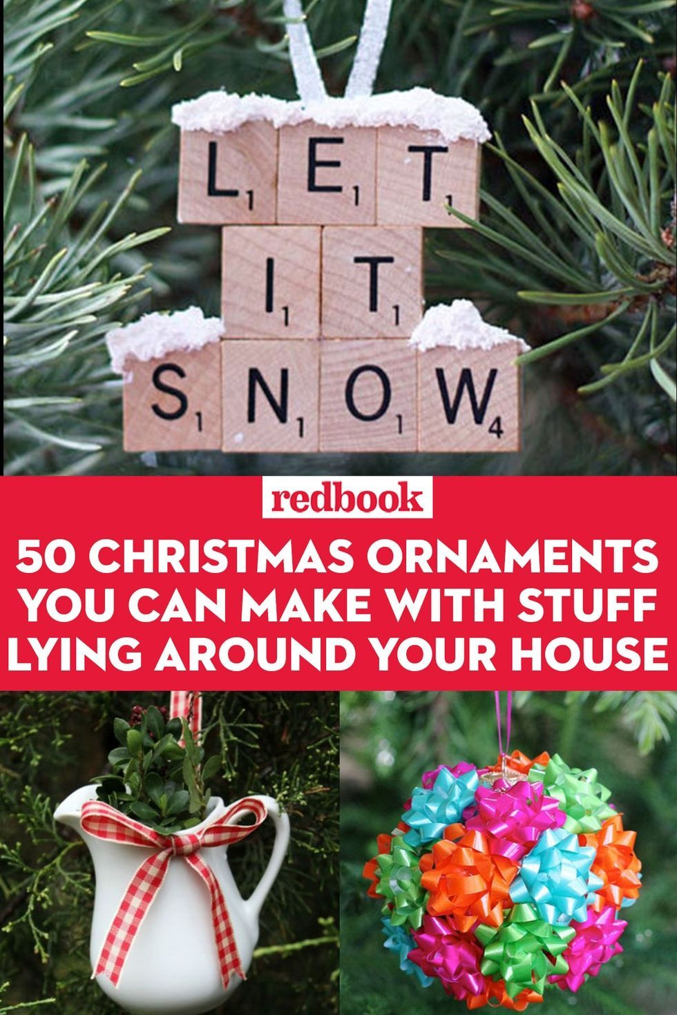 59 Christmas Tree Ornaments Made From Stuff Lying Around Your House Christmas Ornaments Homemade Christmas Diy Family Christmas Gifts