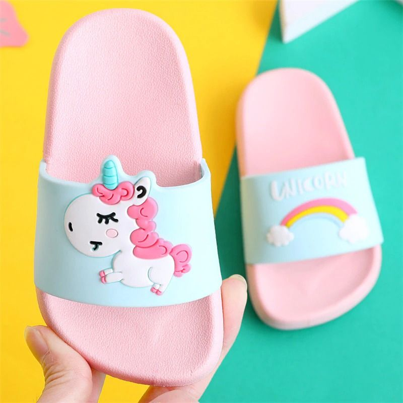 Summer Baby Shoes Unisex Boys Girls Indoors Cute Cartoon Sandals Slippers Shoes