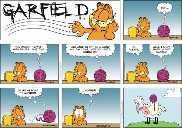 I Don T Love Garfield But This One Made Me Giggle Garfield Comics Garfield And Odie Comics