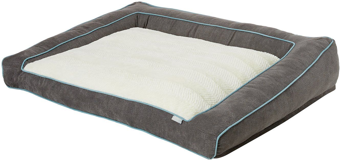 The Ortho Frisco Textured Plush Bolster Sofa Pet Bed is
