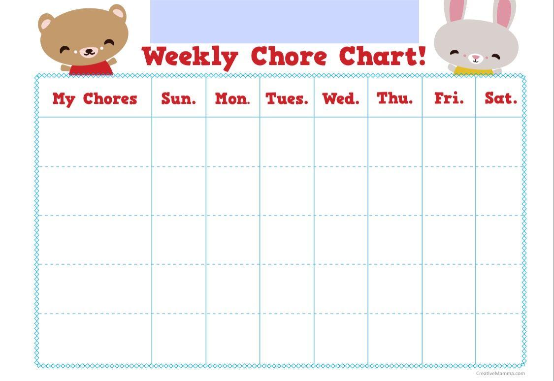 Chore Chart Weekly