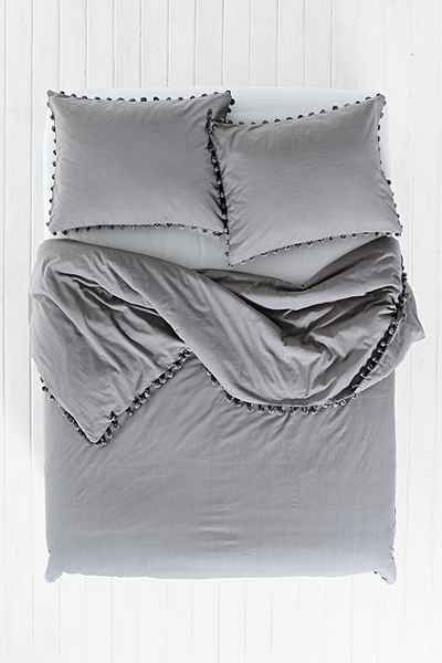 Magical Thinking Pom Fringe Duvet Cover Duvet Covers Urban Outfitters Twin Xl Bedding Gray Duvet Cover