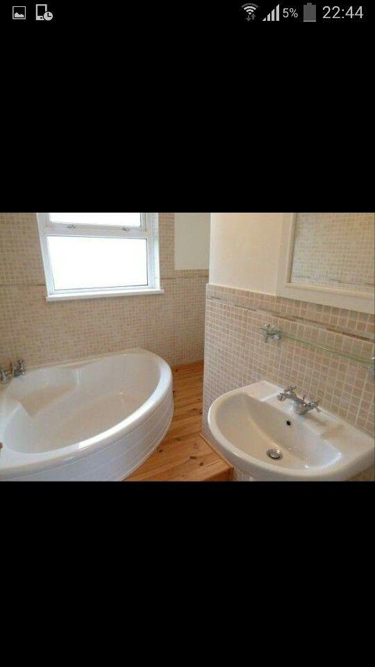 small l shaped bathroom idea