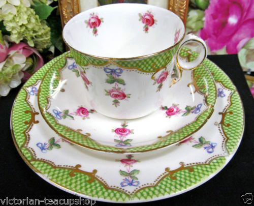 ROYAL ALBERT TEA CUP AND SAUCER TRIO CROWN CHINA 1920'S TEACUP PINK ROSES in Antiques, Decorative Arts, Ceramics & Porcelain, Cups & Saucers | eBay