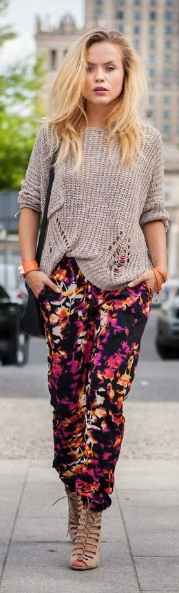 Primark Multicolor Women's Printed Ankle Pants