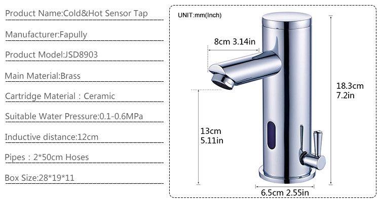 Fapully Upc Faucet Parts Chrome Automatic Sensor Faucet,Cold Hot ...