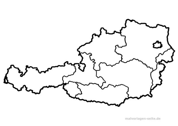 Landkarte österreich Malvorlagen Ausmalbilder Landkarte