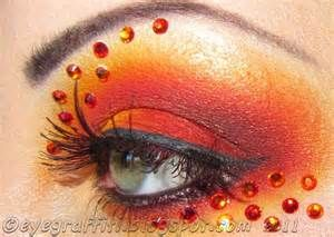 ... and yellow designer eye makeup, with gem ... | Little Mermaid Cos
