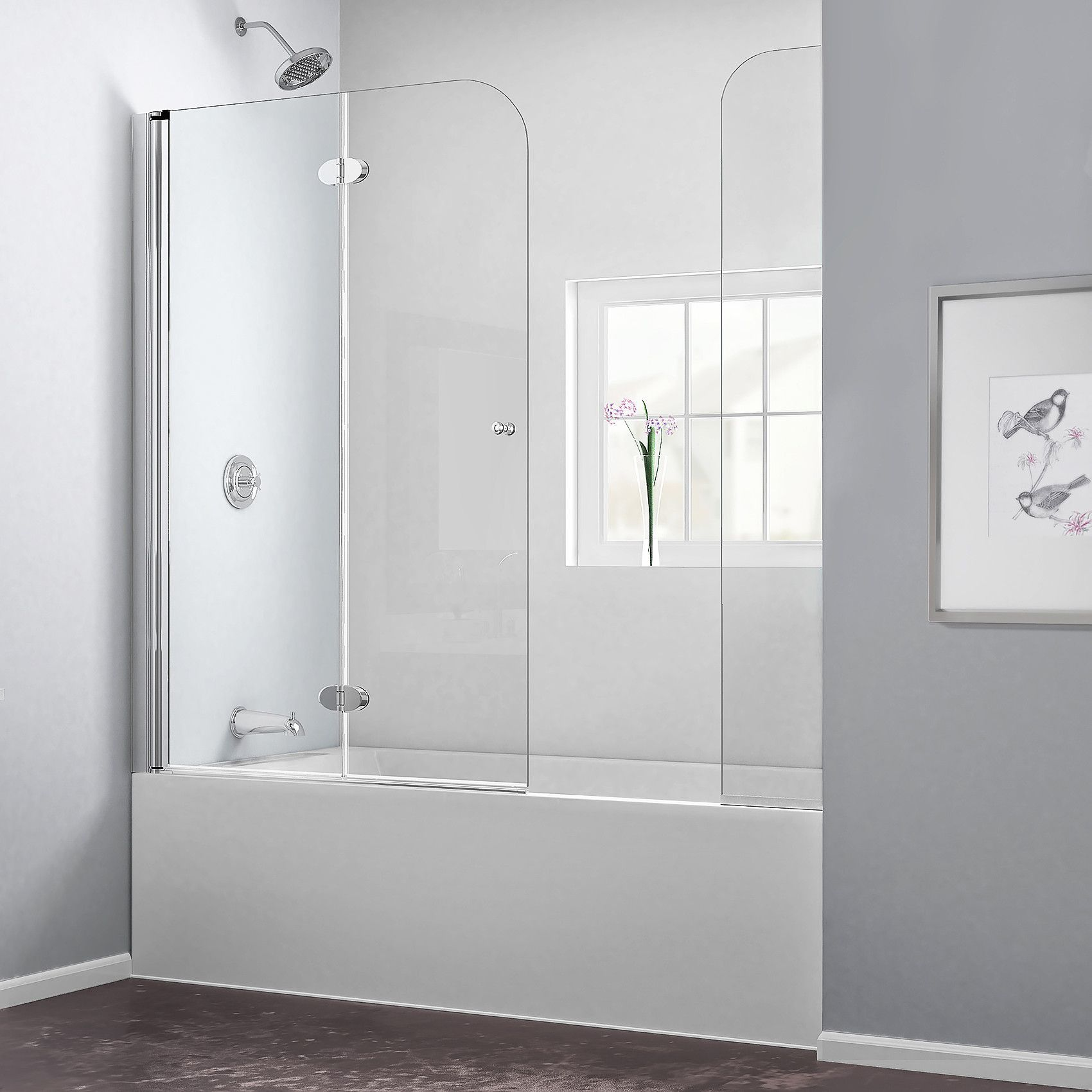 The AquaFold Tub Door With Extender Panel Is The Perfect