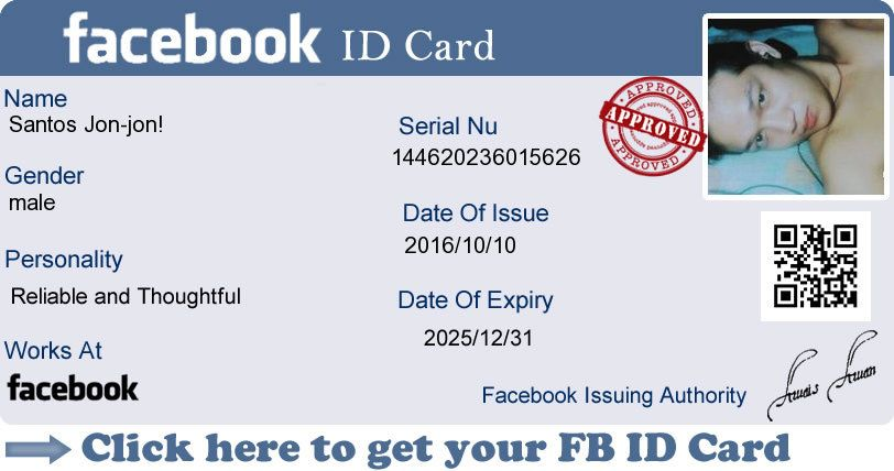 Create Your Facebook Id Card Now my id Pinterest Free credit - budget cash flow spreadsheet