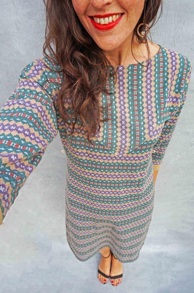 Vintage 1970's Green Fair Isle Jumper Dress - Ada's Attic Vintage ...