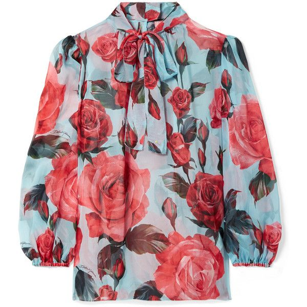 Brand New Unisex Cheap Online Pussy-bow Floral-print Silk-chiffon Blouse - White Dolce & Gabbana Discount Footlocker Finishline Buy Cheap Good Selling Inexpensive Cheap Price Sale Official CNdiHfCSH2