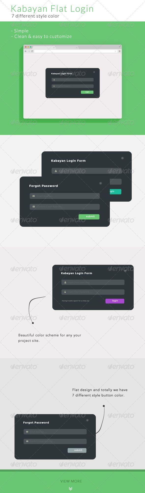 Kabayan Flat Login or Sign | Grid layouts, Google fonts and Template