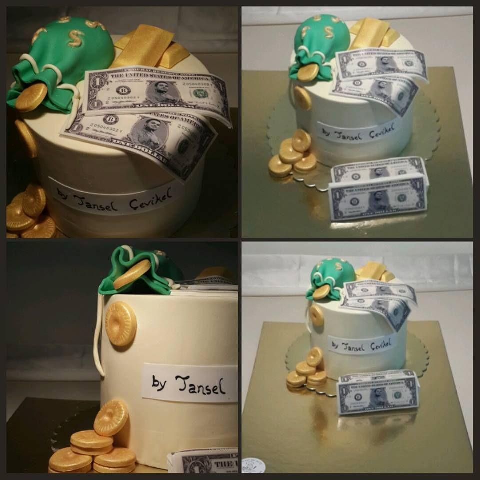 Dollar Cake One Dollar Cake Gold Cake Gold Box Rich Man Cake