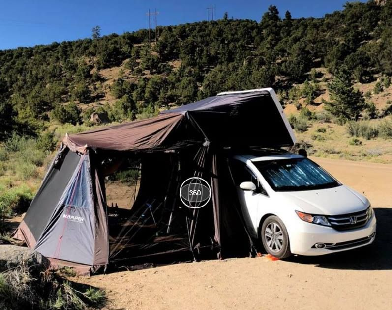 Honda Odyssey van with iKamper Skycamp 4person hardshell