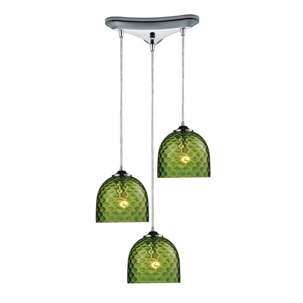 Multi light pendant light with green glass and 3 lights multi multi light pendant light with green glass and 3 lights aloadofball Choice Image
