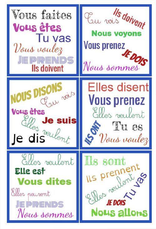 Dobble Present Verbes 3eme Groupe Nouveaux Programmes Jeu Conjugaison Dobble Verbe